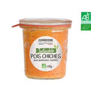 Houmous de Pois Chiches au Poivrons Confits 100g Conserverie des Saveurs