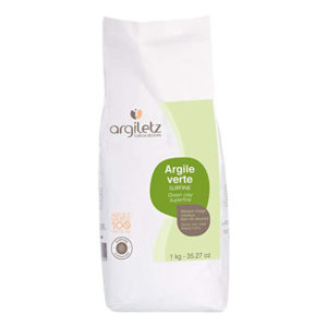 Argile Verte Surfine 1kg Argiletz