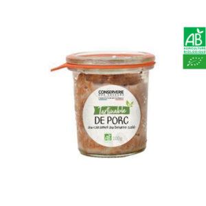 Tartinable de Porc au Caramel Beurre Salé 100g Conserverie des Saveurs