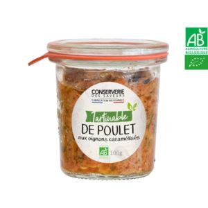 Tartinable de Poulet aux Oignons Caramélisés 100g Conserverie des Saveurs