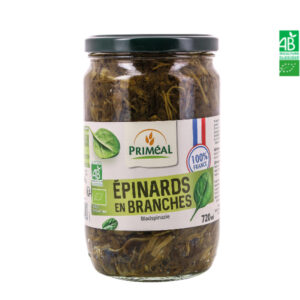 Epinards en Branche Bio France 720ml Priméal