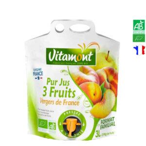 Jus de 3 Fruits Vergers de France Poche Souple 3 Lt Vitamont