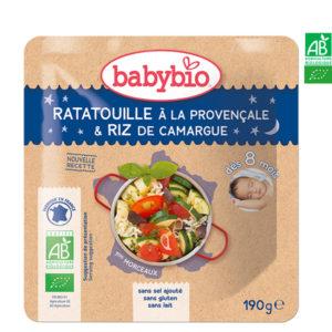 La Ratatouille à La Provençale & Riz de Camargue 190g Babybio
