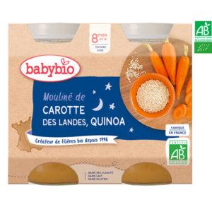 Mouliné de Carottes des Landes et Quinoa 2*200g Babybio