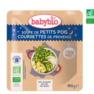 Soupe de Petits Pois Courgettes de Provence 190g Babybio