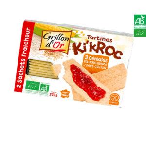 Tartines Ki'Kroc 3 céréales 270gr Grillon d'Or