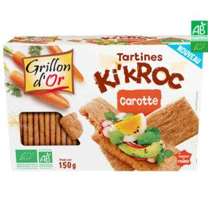 Tartines Ki'Kroc Carotte 150gr Grillon d'Or