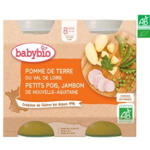 Pomme de Terre Petit Pois Jambon du Val de Loire 2x200g Babybio