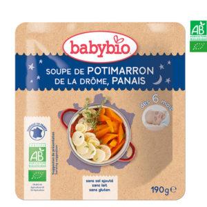 Soupe de Potimarron de la Drôme, Panais 190g Babybio