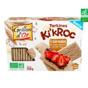 Tartines Ki'Kroc 5 céréales 150gr Grillon d'Or