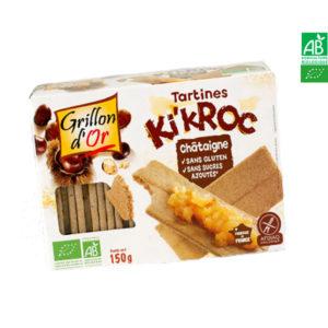 Tartines Ki'Kroc Châtaigne Sans Gluten 150gr Grillon d'Or