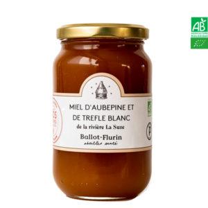 Miel d'Aubépine et de Trèfle Blanc de la rivière la Suze 480g Ballot-Flurin