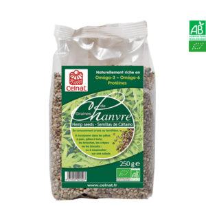 Graines de Chanvre Bio Complètes 250gr Celnat