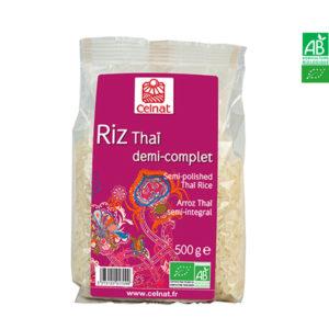 Riz Long Thai Bio Demi-Complet 500gr Celnat