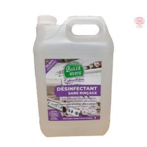 Biocide Désinfectant Sans Rinçage 5Lt Bulle Verte