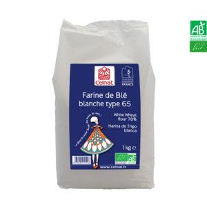 Farine de Blé T65 Bio 1Kg Celnat