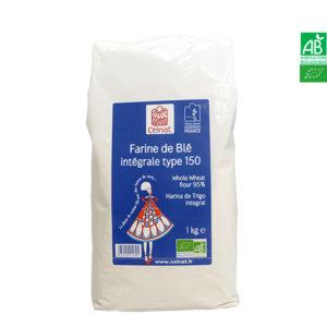 Farine de Blé Intégrale T150 Bio 1Kg Celnat