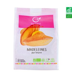 Madeleine Pur Beurre Bio 200g Sachet de 9 Madeleines Individuelles Bio Soleil