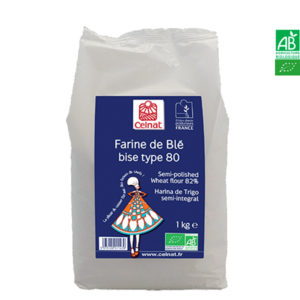 Farine de Blé Bise T80 Bio 1Kg Celnat