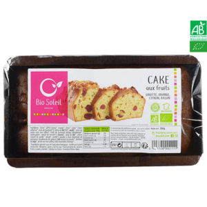 Cake Aux Fruits Bio 350g Bio Soleil