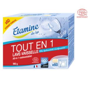 Tablette Lave-Vaisselle Tout-en-1 Par 60 Etamine du Lys