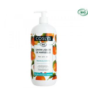 Savon Liquide de Marseille Mandarine Bio 1Lt Coslys