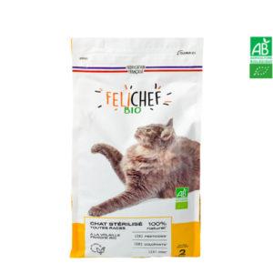 Croquettes Pour Chat BIO Chat Stérilisé 2kg – FELICHEF