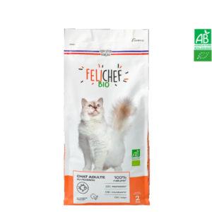 Croquettes Au Poisson Chat Bio Adulte 2kg – FELICHEF