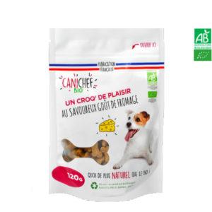 Friandises pour chien BIO Goût Fromage 120g – Canichef