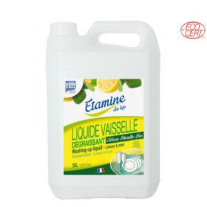 Liquide Vaisselle Citron-Menthe 5Lt Etamine du Lys